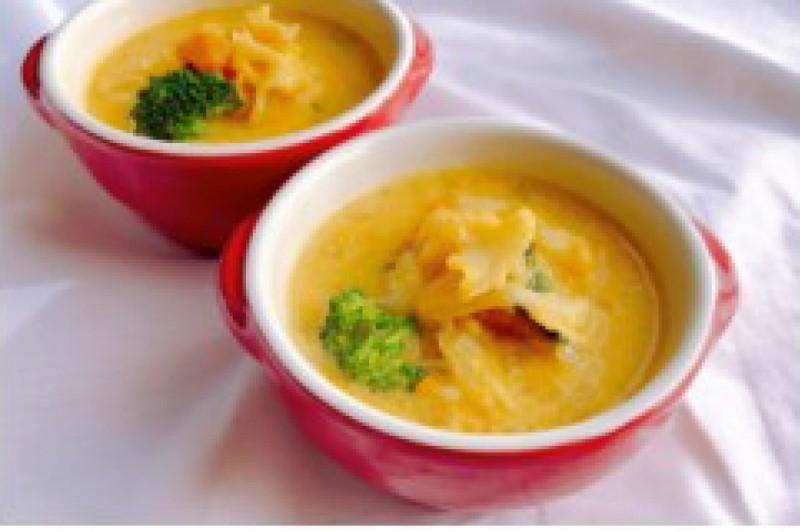 かぼちゃと乾燥はなびら茸のこっくりスープ