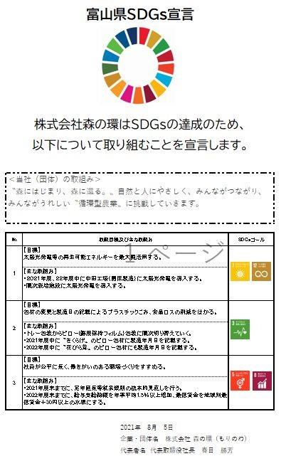 富山県SDGs宣言書